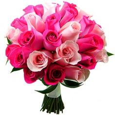 buque de noiva com rosas claras e pink - entregamos em toda BH