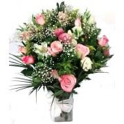 Cesta de frutas com arranjo de flores  - entregamos em toda BH
