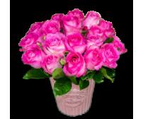 arranjo de rosas pinks   - entregamos em toda BH